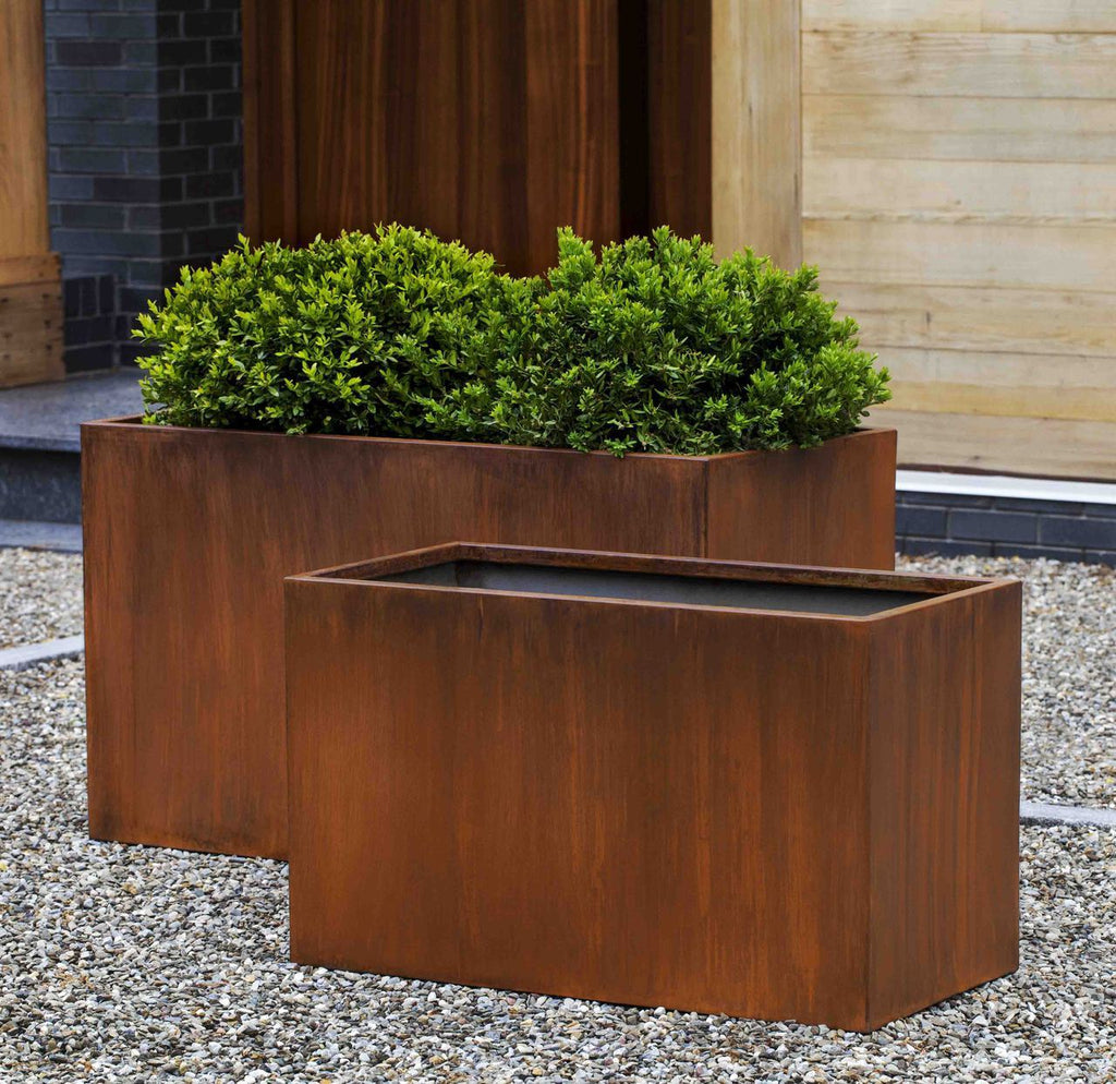 Steel Box Planter - Set of 2 in Steel