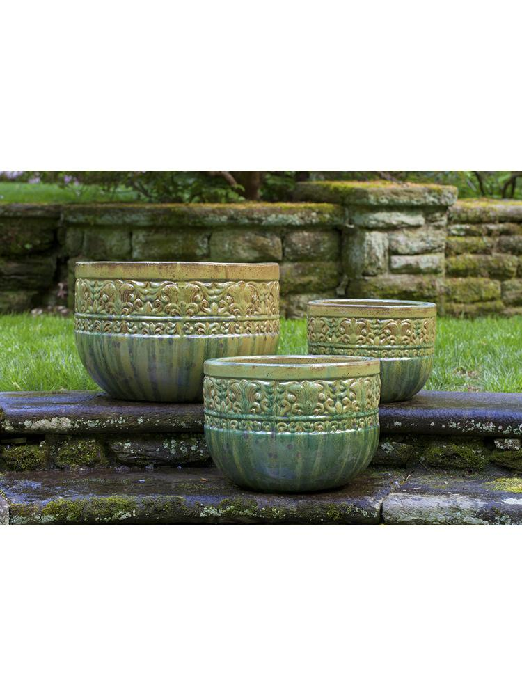 Quebrada Planter - Set of 3 in Tropical Avocado