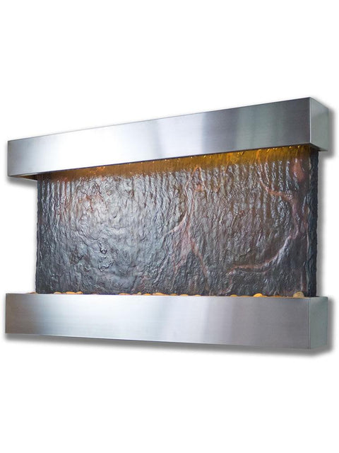 Slate Medium Horizon Falls in Stainless Steel