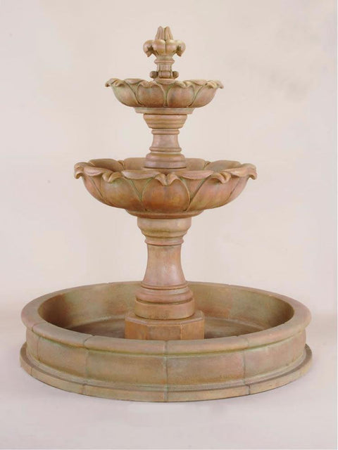 Gardenia Two Tier Pond Fountain