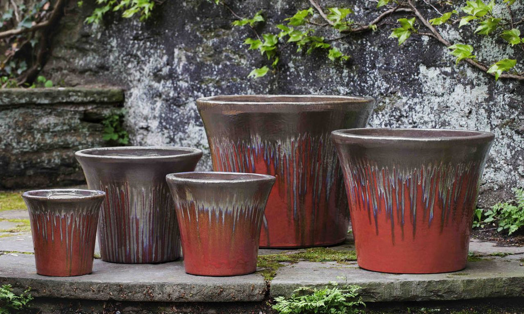 Delphine Planter - Set of 5 in Bronze Garnet