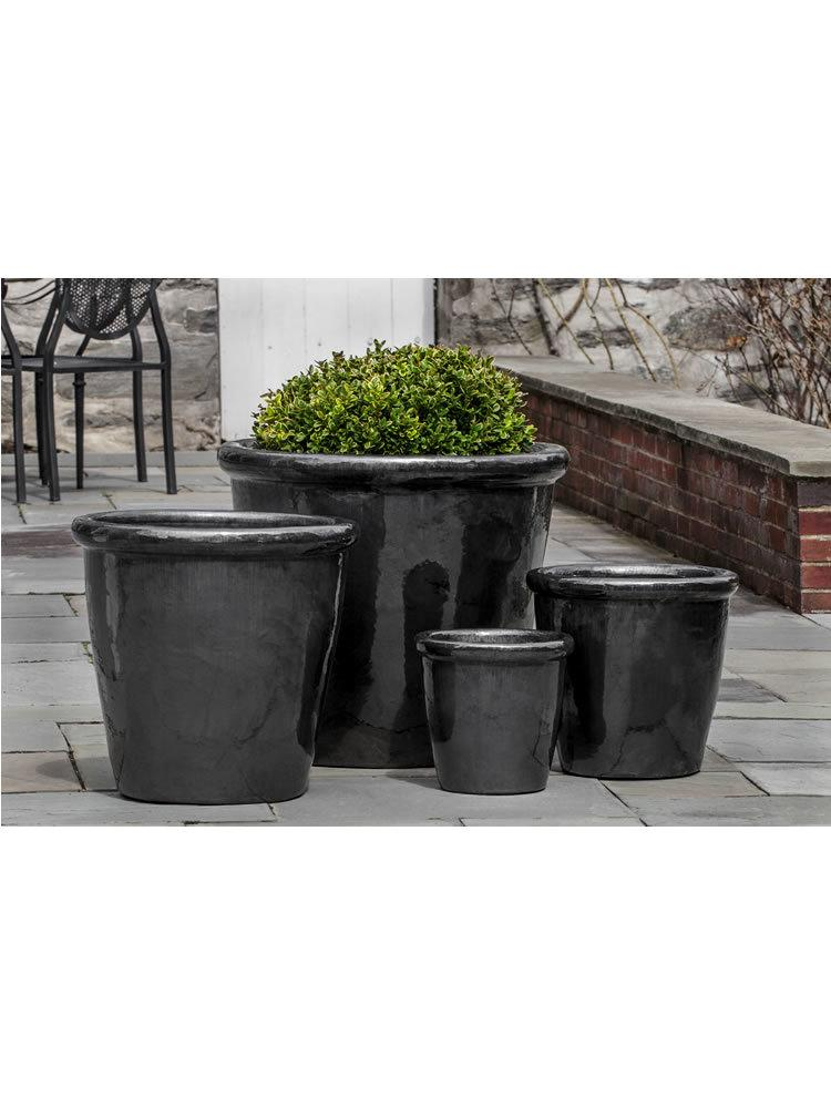 Saravah Planter Set of Four in Ice Black