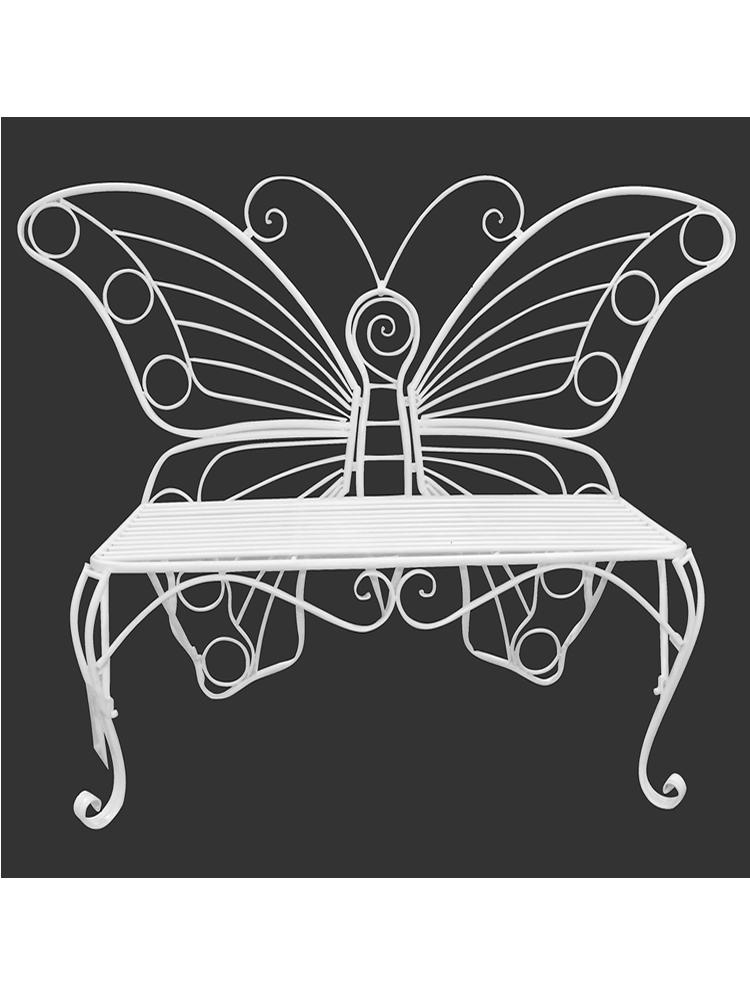Butterfly Bench in White