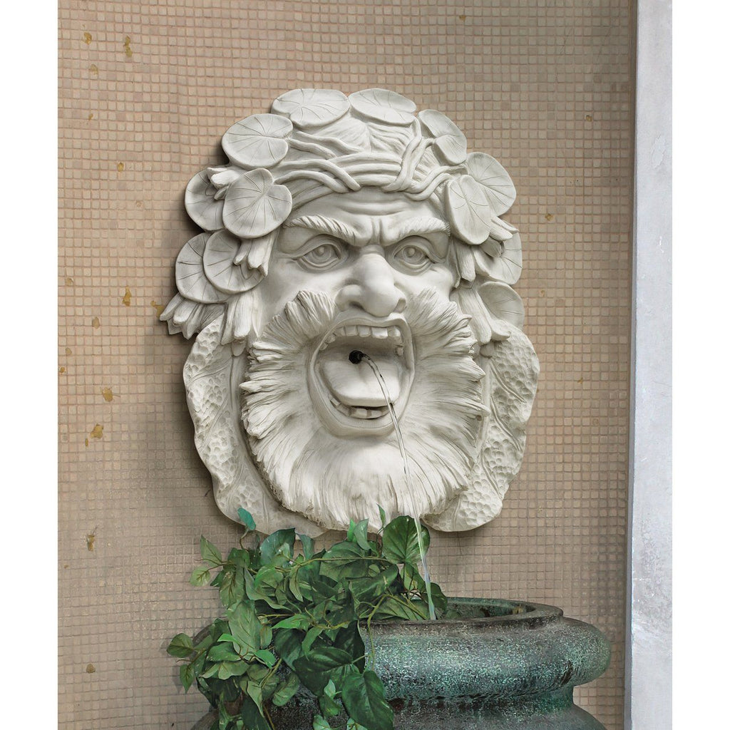 Hafod Mansion Greenman Fountain Piped Wall Sculpture