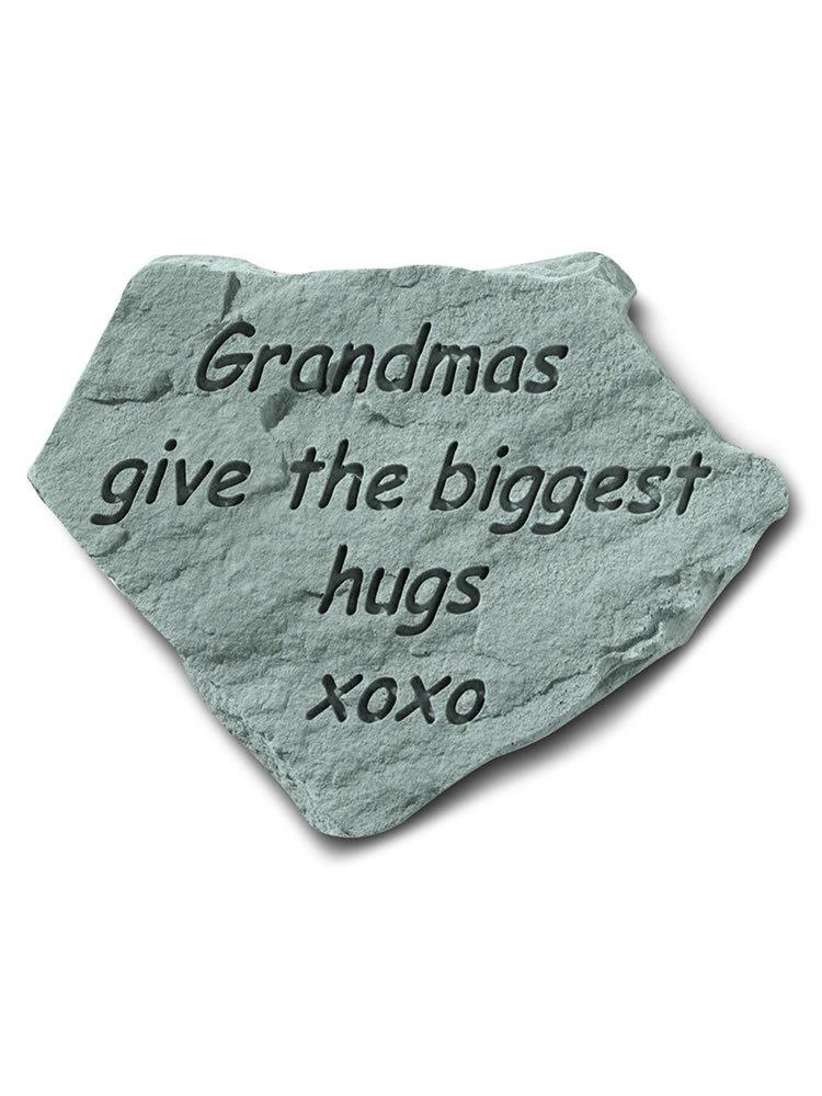 Grandmas Give the Biggest Hugs Garden Accent Rock