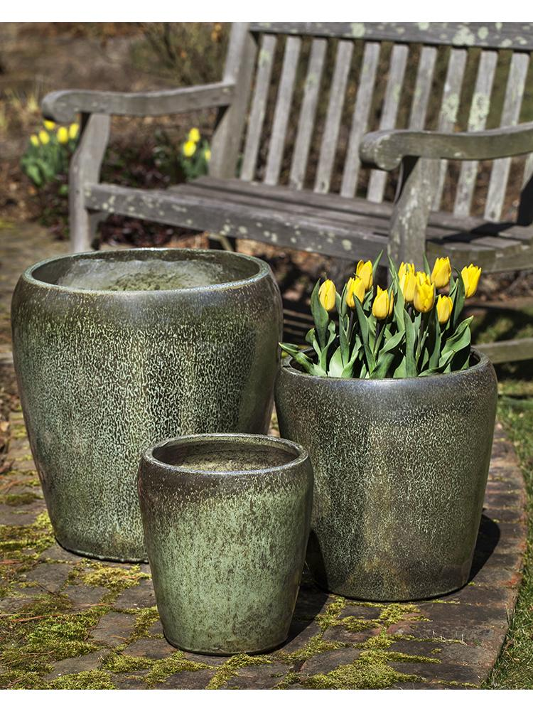 Ellesmere Planter - Set of 3 in Green Metallic