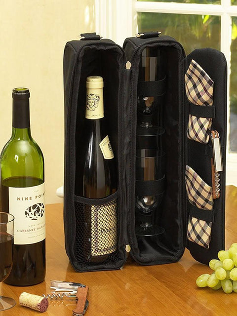 Classic Sunset Deluxe Wine Carrier for Two