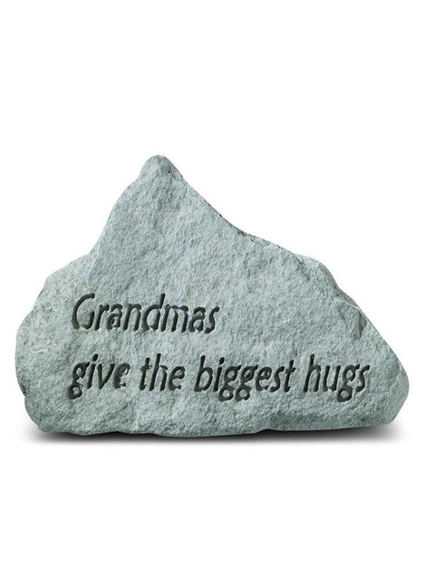 Grandmas Give the Biggest Hugs Mini Garden Stone/Plaque