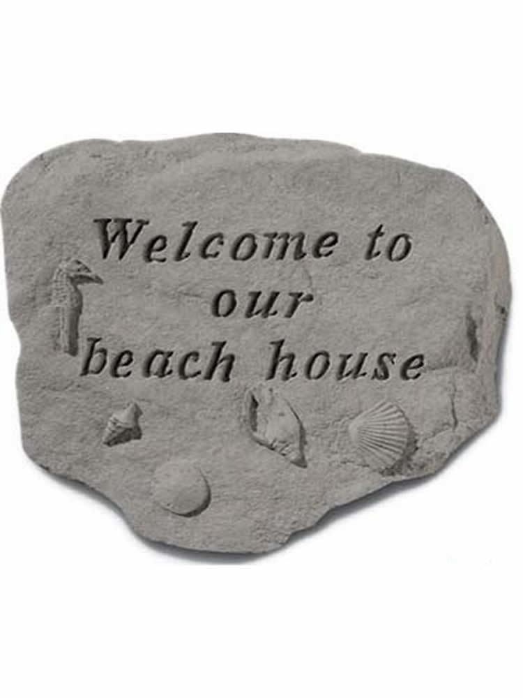 Welcome to Our Beach House Garden Accent Rock