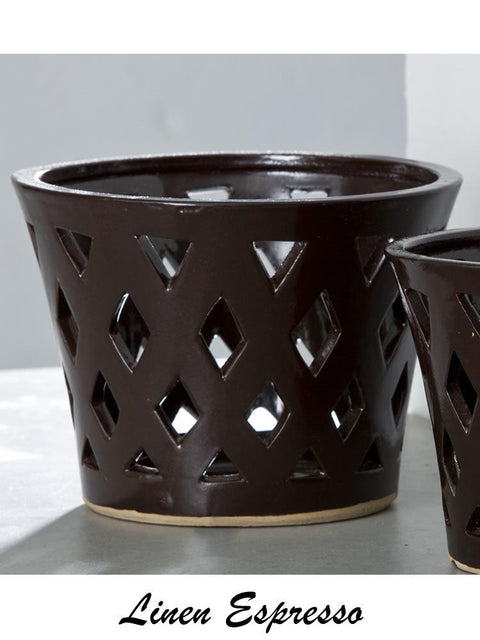Gwyneth Large Planter - Espresso