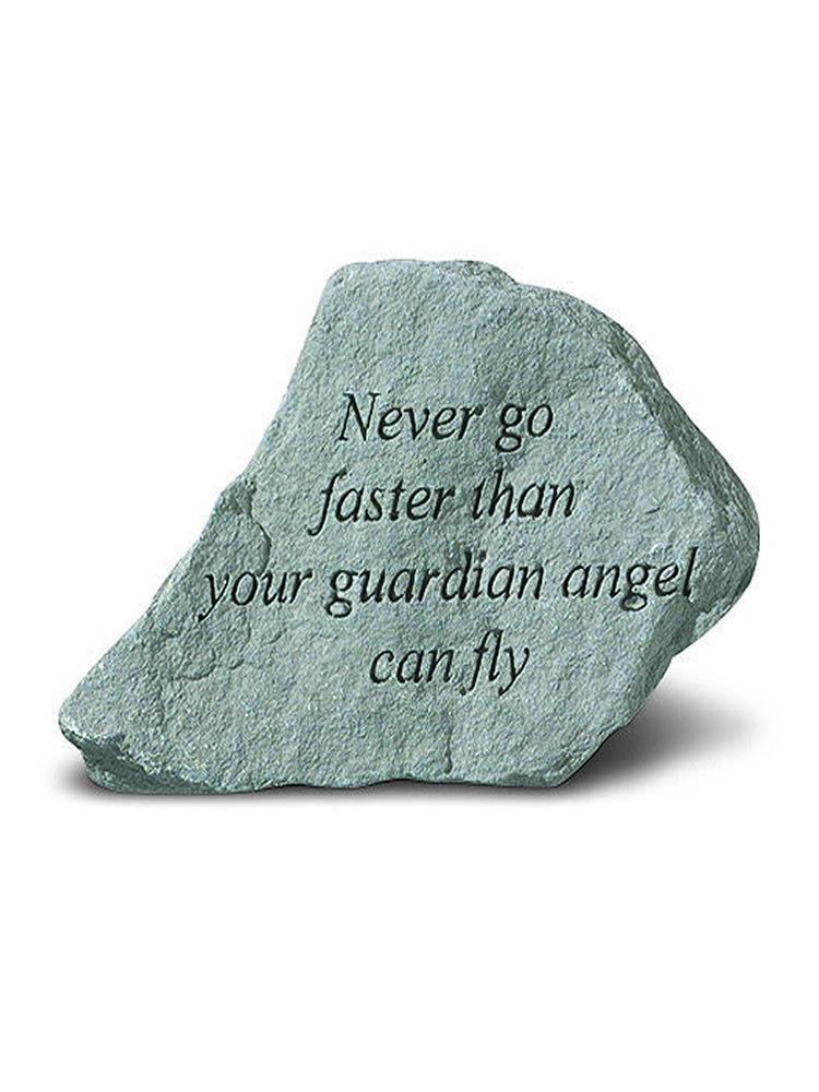 Never Go Faster Mini Garden Stone/Plaque