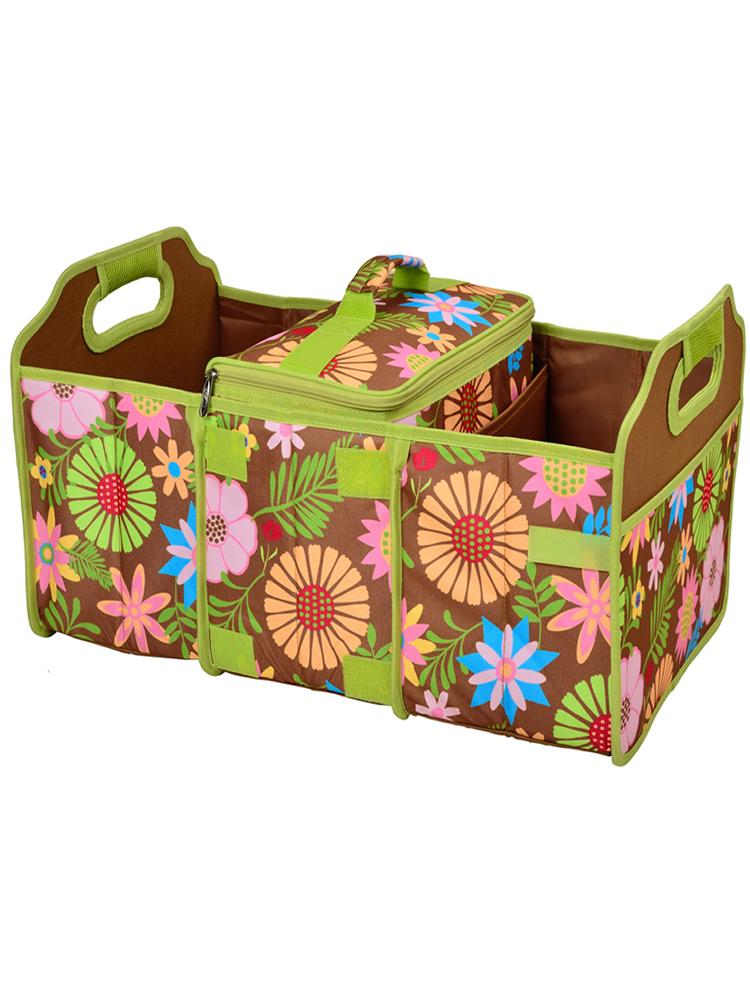 Trunk Organizer and Cooler set -Floral