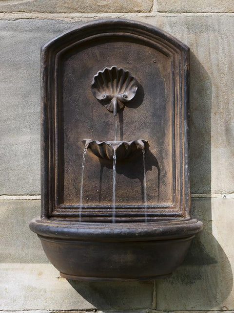 Shell Wall Fountain English Iron