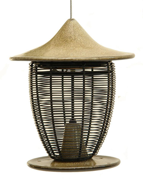 Pagoda Bird Feeder in Sandy Granite