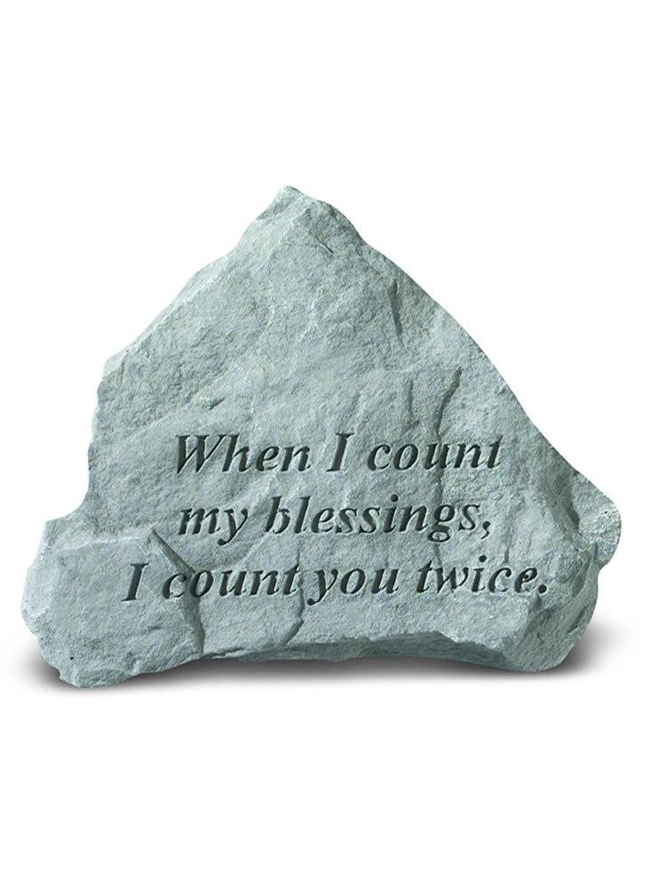 When I Count My Blessings Mini Garden Stone/Plaque
