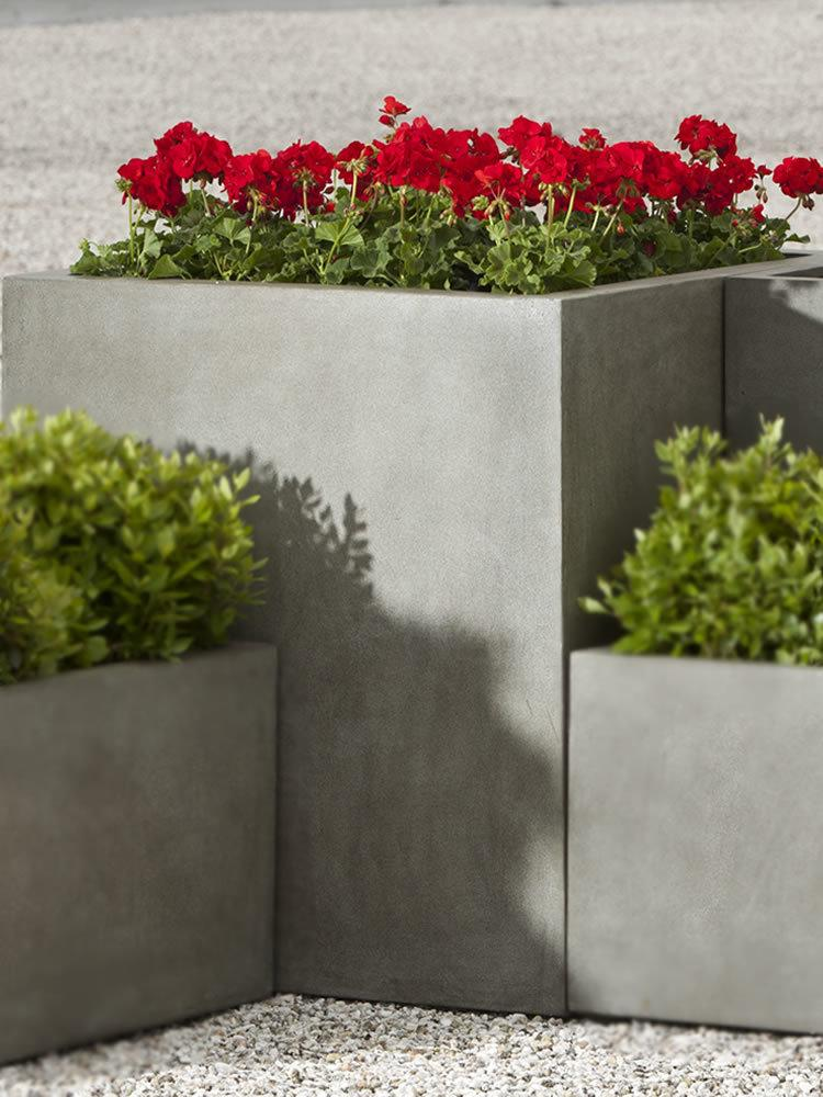 Modular Lite Planter 5 in Concrete Lite