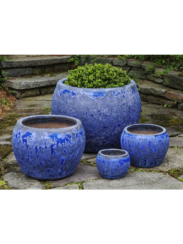 Naxos Planter - Set of 4 in Angkor Blue
