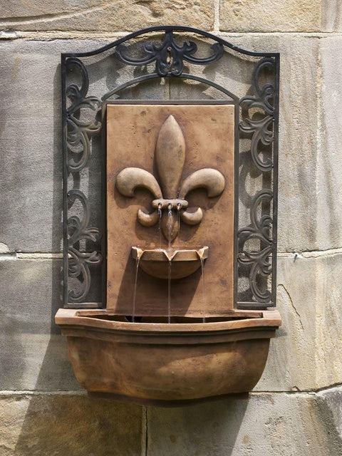 French Quarter Wall Fountain Antique Terra Cotta