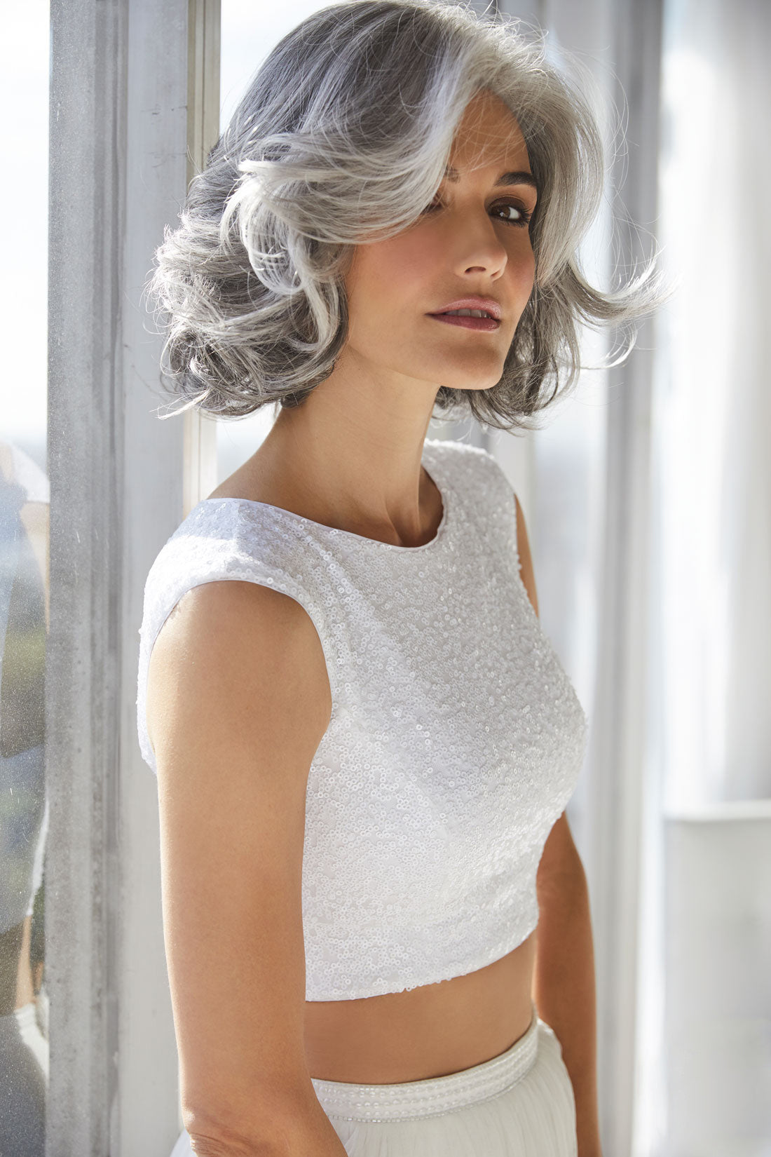 Amal silverstone wig by Rene of Paris