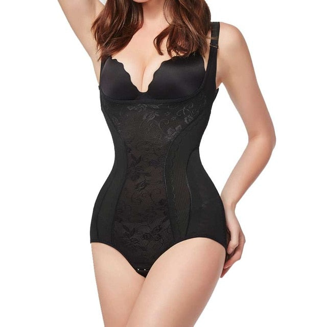 Firm Control Under bust  Bodysuit