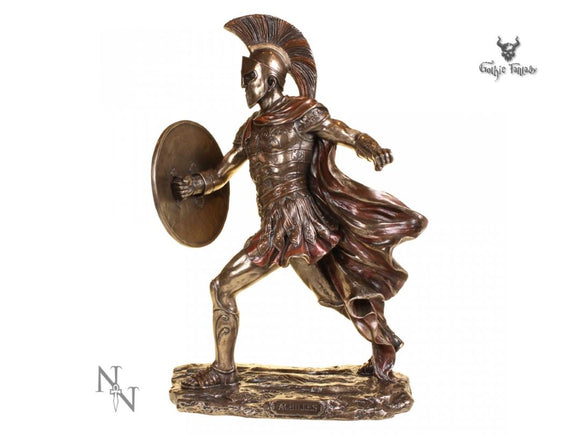 Achilles 29cm Greek Spartan Warrior Bronze Figurine Trojon War - Gothic Fantasy Store