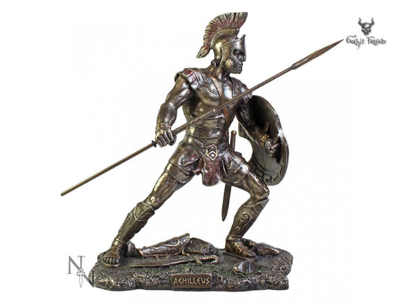 Achilleus Greek Warrior From Trojan War 25.5cm Figurine - Gothic Fantasy Store