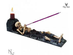 Ashes to Ashes 28cm Skeleton in a Crypt Incense Stick Holder - Gothic Fantasy Store