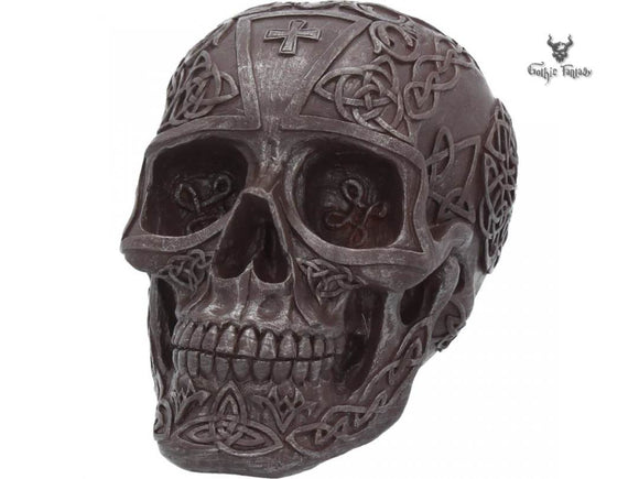 Celtic Iron 16cm Skull Figurine Celtic Design - Gothic Fantasy Store