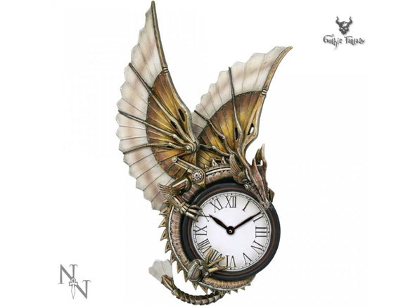 Clockwork Dragon Wall Clock Steampunk design by Anne Stokes 25cm - Gothic Fantasy Store