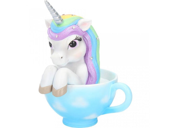 Cutiecorn in a Cup - Gorgeous Unicorn sitting in a T-Cup 14cm Tall - Gothic Fantasy Store
