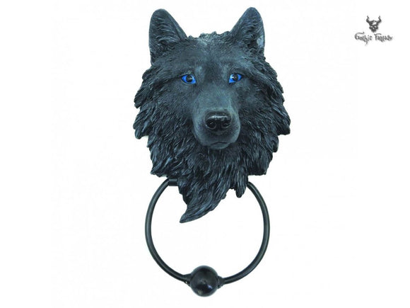 Dark Guardian Wolf Door Knocker 22.8cm Nemesis Now Wolf Door Knocker - Gothic Fantasy Store