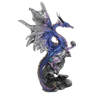 Dragon Overseer Figurine Ornament Nemesis Now Purple Large Gothic Dragon - Gothic Fantasy Store