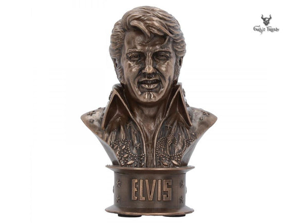 Bronze Bust of Elvis with Elvis emblazoned at the base