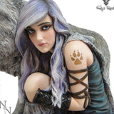 Protector Nemesis Wolf Protecting You Woman Now Figurine (Limited Edition) 25cm - Gothic Fantasy Store
