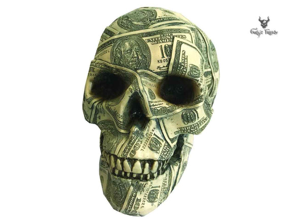 Made of Money 19.5cm Nemesis Now Money Box Skull - Gothic Fantasy Store