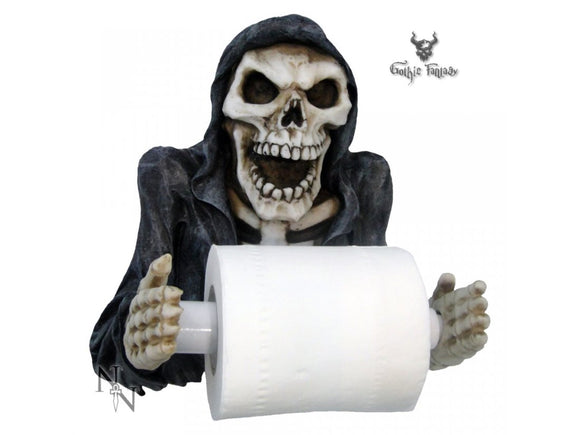 Reapers Revenge Toilet Roll Holder 26cm Novelty Loo Roll Holder Grim Reaper - Gothic Fantasy Store