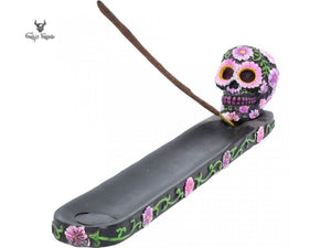 Sugar Petal Incense Burner 26.5cm Skull Incense Ash Catcher - Gothic Fantasy Store