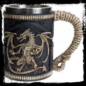 Dragon Remains Tankard 15cm - Gothic Fantasy Store