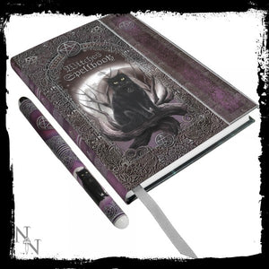 Embossed Witches Spell Book A5 Journal with Pen P6 - Gothic Fantasy Store