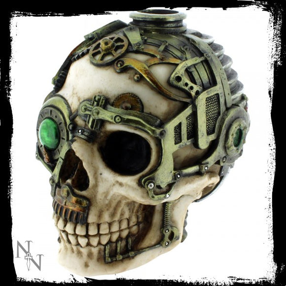 Steampunk Skull Candle Holder (AS) 16.5cm