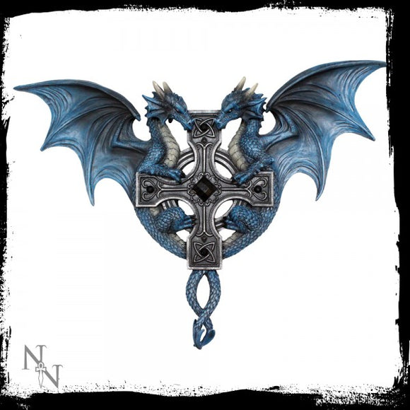 Dragon Duo Wall Plaque (AS) 34cm - Gothic Fantasy Store