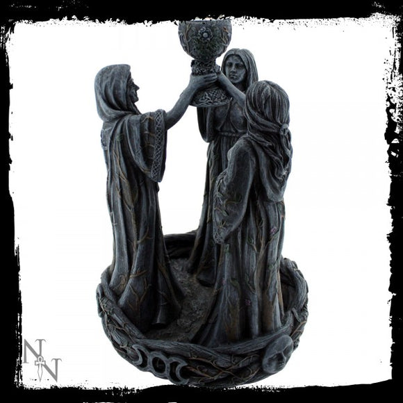 Mother Maiden & Crone Backflow Incense Burner 18cm - Gothic Fantasy Store