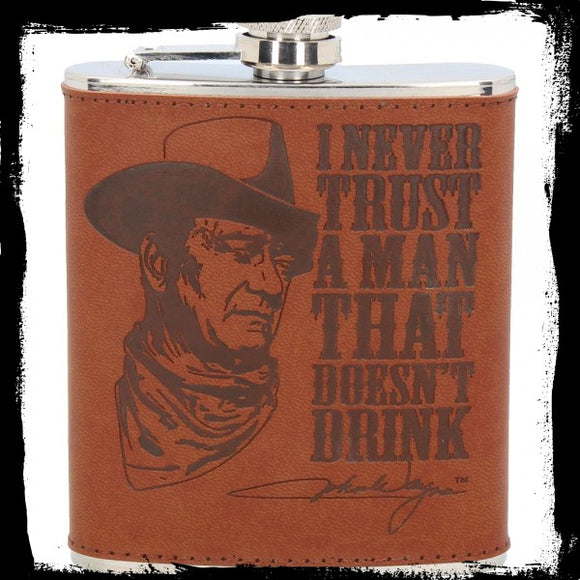 John Wayne Hip Flask 7oz (JW)