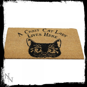 Crazy Cat Lady Doormat 45x75cm - Gothic Fantasy Store