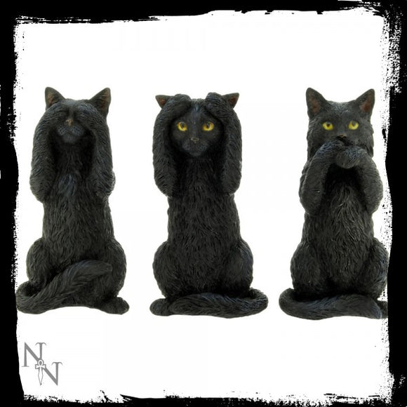 Three Wise Cats 9.5cm - Gothic Fantasy Store
