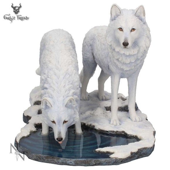 Warriors of Winter Wolves Figurine (LP) 35cm - Gothic Fantasy Store