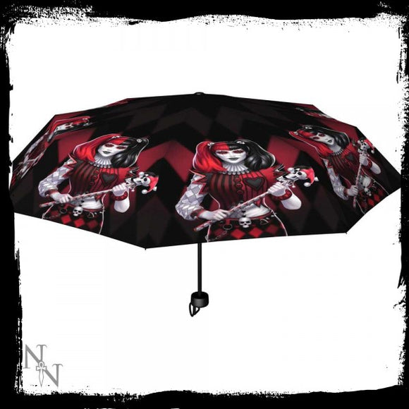 Dark Jester Umbrella (JR) - Gothic Fantasy Store