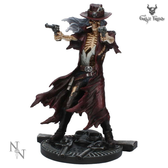 Gunslinger Western Inspired Skeleton Figurine (JR) 22cm - Gothic Fantasy Store