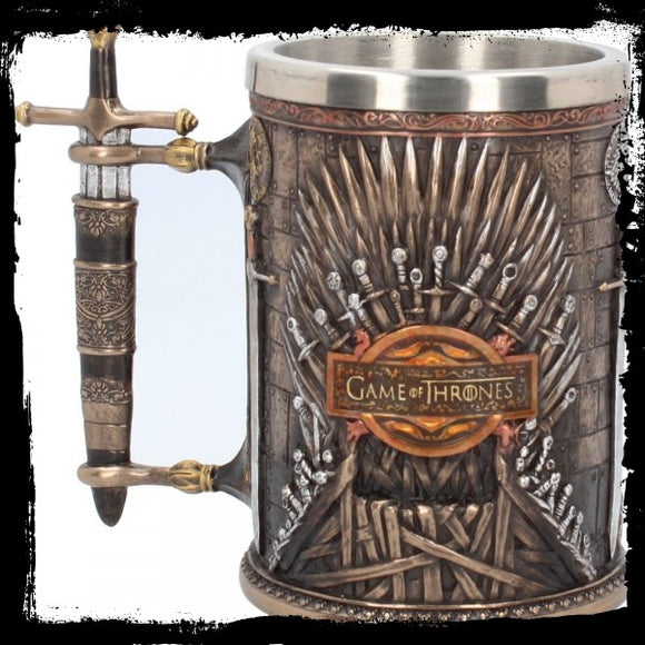 Iron Throne Tankard (GOT) 14cm - Gothic Fantasy Store