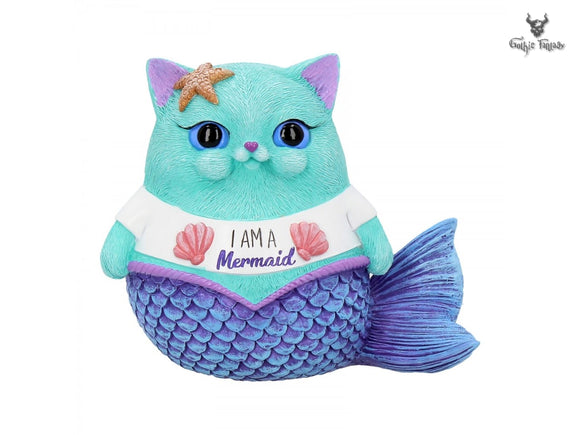 I am a Mermaid 8.5cm Nemesis Now Snapcats Mermaid Figurine - Gothic Fantasy Store